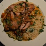 Rabbit Stew and Orzo