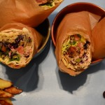 Shawarma - Chicken wrap with Zhug, tahini and pickles