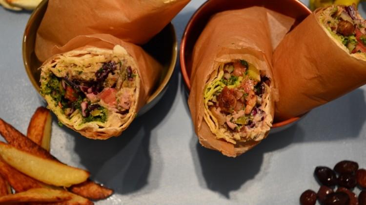 Shawarma - Chicken wrap with Zhug, tahini and pickles