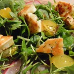 Post 15 Purslane, Radish and Haloumi salad with a pomegranate molasses dressing