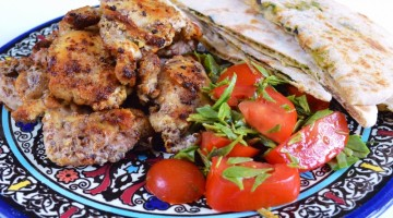 BBQ chicken and sourdough olive flat breads